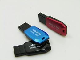 Wholesale ADATA Dash Drive UV100 GB GB GB USB Memory UV100 Blue Removable Cap USB Flash Drives Stick