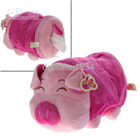 Wholesale Good Cute Piggy Design Toy Fabric Tissue Holder free shiping