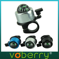 Cheap New Bike Cycling Bicycle Metal Ring Bell Horns Alarm With Compass Ball quality first 1pcs