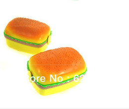 Wholesale PC humburger shape travel dual use retractable extension unified silicone crisper lunch box