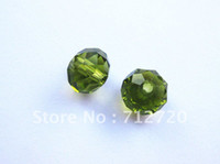 Wholesale mm Olive Green Rondelle Faced Beads Fit Jewelry DIY