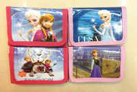 Wholesale Frozen Purse Girls Frozen cartoon coin purse wallets bag pouch for KIds Gift Frozen Elsa Anna cartoon wallet