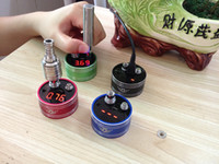 Wholesale The cheapest over the internet coiled vapor Ohm Reader Vaporizer Atomizer Cartomizer ohms Meter Electronic cigarettes ohms Meter factory