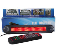 car led message display - 48pcs V LED Message Digital Moving English and Russian display Scrolling Car Sign Light Red Color LED door windows display
