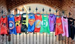 Wholesale Superhero cape Superman cape Super Hero Costume for Children Halloween Christmas Party Costumes for Kids Children s Costume