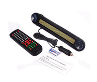 Plastic car led message display - 48pcs V Blue Color LED door windows display LED Message Digital Moving English and Russian display Scrolling Car Sign Light