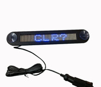 Plastic car led message display - 12V Blue Color LED door windows display LED Message Digital Moving English display Scrolling Car Sign Light with Retail package