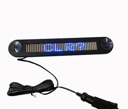 12V Blue Color LED door windows display LED Message Digital Moving English display Scrolling Car Sign Light with Retail package