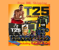Cheap High Quality Factory Saled 14 DVDs Focus T25 Fast Shipment Shaun T's Crazy Potent Slimming Training Set Alpha Beta Gamma Core Speed T25
