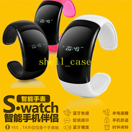 Wholesale Smart Watch Bluetooth Watch Mobile Phone Bracelet Watch Wristwatches Caller ID Digital Time Vibrating Alert For iphone6 Samsung Galaxy Note4