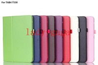 Wholesale Leather Folio Case Cover Pouch Stand for Samsung Galaxy Tab Tab4 T530 T330 T230 with Magnetic sleep wake up DHL
