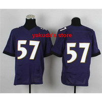 Football Men Short Wholesale - 2014 New #57 Purple Elite Jerseys High Quality 2014 New Football Jerseys Football Wear Mix Order Cheap Outdoor