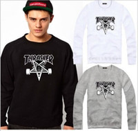 Cheap Free shipping 2014 Spring Autumn Winter HipHop Skateboard Fleece sweatshirt Unisex sport Hoodies o-neck Sweatshirts 9 color China Size M-4XL