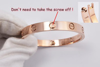 Wholesale Fashion new style L stainless brand lovers silver rose gold infinity screwdriver cuff bracelets