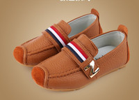Wholesale 2014 new style real leather Children s Casual Tendon at the end leather shoes size