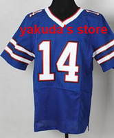 Wholesale #14 Sammy Watkins Blue Elite Football Jerseys Amer...