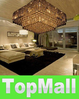 Modern Hotel 20 ~ 25sq.m JJ1143 high quality modern crystal square ceiling chandelier lamp transparent water droplets