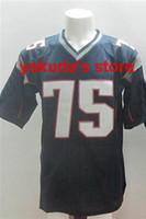 Wholesale #75 Vince Wilfork Blue Elite Football Jerseys Amer...