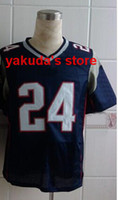 Wholesale #24 Blue Elite Football Jerseys American Football ...