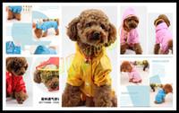 Wholesale cute Pet raincoat dog raincoats random color Dog clothes poncho Big Medium Small dog raincoat size yards