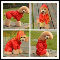 Wholesale hot CUTE Dog Apparel Pet raincoat dog raincoats random color Dog clothes poncho Big Medium Small dog raincoat size yards