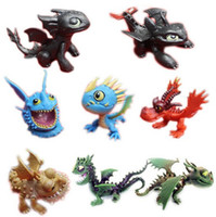 Wholesale Dragon Action Figures set movie How to Train your dragon Cartoon doll toy night fury toothless Action Figure Toys