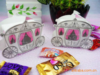 Wholesale Wedding supplies wedding gift Creative prince and princess fantasy carriage candy box small gift carton