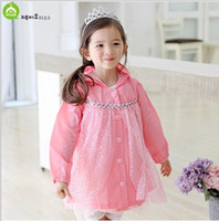Wholesale Frozen Children s Rain Gear Rain Cat Korean New Arrival Kids Boy Girl Cartoon Raincoat Pink And Blue Colour WD112