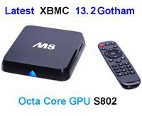 Wholesale StarStream X4 M8 Quad Core Android Smart TV Box Amlogic S802 GB RAM GB Mali GPU G G Dual Wifi HDMI Bluetooth K D Movies XBMC