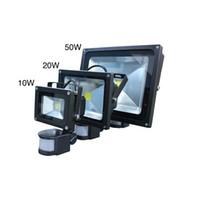 Wholesale New W W W W PIR Sensor LED Flood Light Spotlight Lamp Garden Security