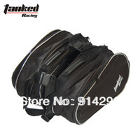 Wholesale 2 bags motorcycle saddle bag backpack Knight Rider equipment Oxford contraction adjust Helmet bag