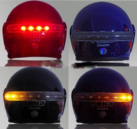 Wholesale 2 G Wireless Motorcycle Helmet Brake Turn Signal LED Light Kits drop shipping