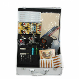Wholesale Classical Tattoo Kit Sets with tattoo Machine gun tattoo tips tattoo grips power supply