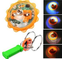 Wholesale Magic spinning gyroscope Inertial Magnetic Dynamo flash luminescence Hot toys hand rotating gyroscope