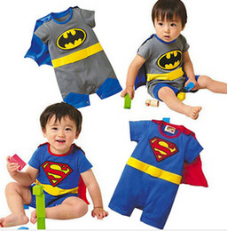 Wholesale Batman romper Baby romper Cotton Superman rompers boys costumes Jumpsuits Toddlers bodysuits tights