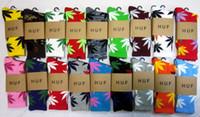 Men Stockings Athletic 24pcs=12pairs HUF SOCKS Marijuana maple leaf socks street corner sock Cotton socks for men Women's sock towel bottom thicken Sock Hot Sale