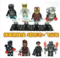 Wholesale 2014 New Iron men Super heroes Four Batman VS Four Superman Plastic toys Building blocks Model doll LELE Brand