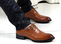 Lace-Up snake print shoes - Fashion casual men s leather Shoes Snake Print wedding shoes bridegroom Shoes business shoes