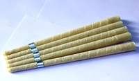 Wholesale pure beewax ear candle unbleached organic muslin fabric with protective disc CE quality approval extra free