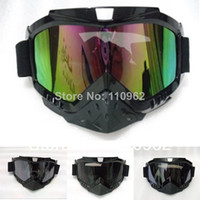 Wholesale HELMET Goggles Open face motorcycle Goggles glasses Motocross Scooter Cruiser Helmet Eyewear snow Goggles