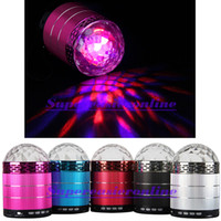 Universal mirror ball disco ball - Disco Mirror Ball LED Light Stereo Sound Box Music Speaker Mini MP3 Player USB Disk TF Card Reader Party Starter FM Radio HOT SALES NEW