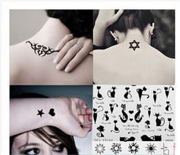 Wholesale 10PIECE creative stickers for male and female cats English letter solar totem five pointed stars awn tattoo stickers