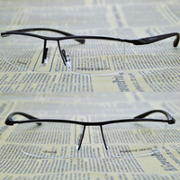 Semi-Rim optical frame - oculos de grau Glasses Half Rimless Spectacles Metal Gold Glasses Frame Brand Optical Myopia Eyeglasses men Eyewear