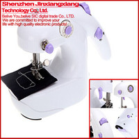 Sewing Machine battery operated clothing - High Quality Mini in Portable Electric Sewing Machine single line Battery or AC Operated Desktop Handheld Home Sartorius