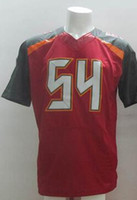 Wholesale #54 Red Elite Football Jerseys 2014 New Season Bes...
