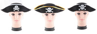 Wholesale New arrival Pirates of the Caribbean captain s hat Cosplay felt cap for Hallowmas