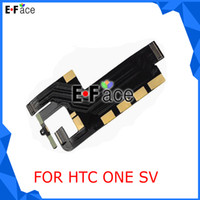 Cheap wholesale Z1494 50pcs lot HTC ONE SV ONE SV LTE C525e MAIN LCD FLEX CABLE CONNECTOR REPLACEMENT part Free DHL shipping