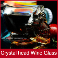 Wholesale 10pcs Glass Goblets Mini Liquor Crystal Head Shot Skull Tumbler Glass Wine Cups and Mugs For Vodka