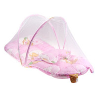 Gauze Babies Floral foldaway mosquito net bed canopy for newborn baby sleep night mosquito netting campingn
