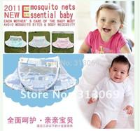 Gauze Babies HAPPY BABY Free shipping ,foldaway mosquito net bed canopy for newborn baby sleep night mosquito netting camping